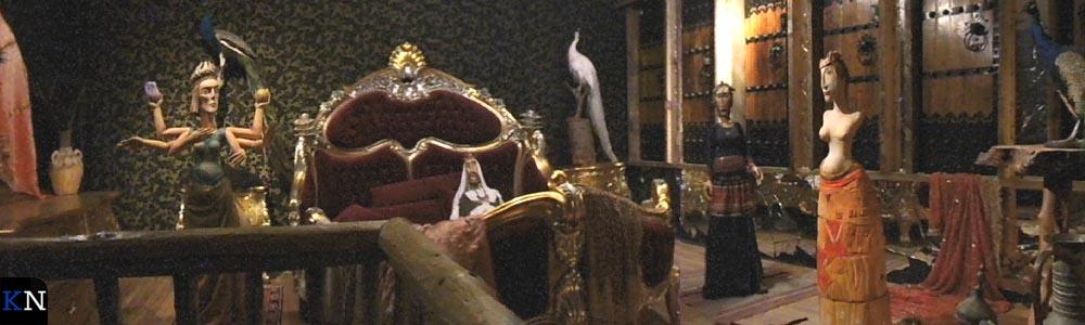 Een benedendeks uitgebeeld Bijbeltafereel.