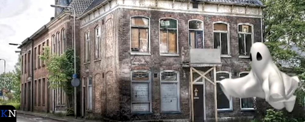 Het spookt in de villa aan de Boven Havenstraat 14 te Kampen.