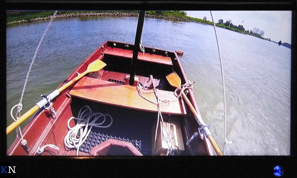 Een beeld uit de videofilm van Boerstra als Kamper bijdrage aan de IJsselbiënnale.