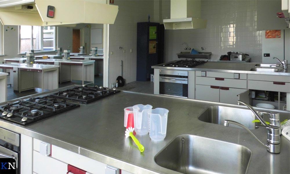 Het kooklokaal van de voormalige school aan de Zandbergstraat 2.