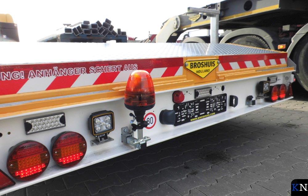 Een trailer van Broshuis BV in Kampen.