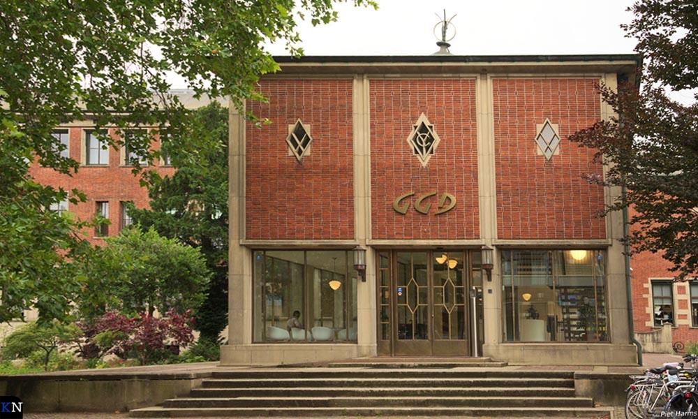 Monumentale entree GGD IJsselland in Zwolle