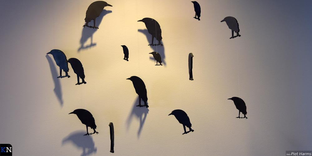 Gekunstelde vogels in de Stadskazerne.