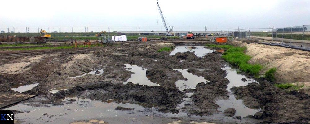 Het terrein wordt zeer nauwkeurig afgegraven.