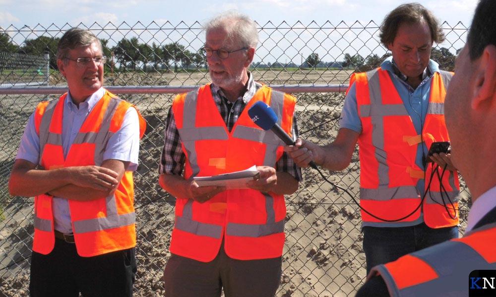 Wim Vos, bestuurslid Watersportverbond, aan het woord.