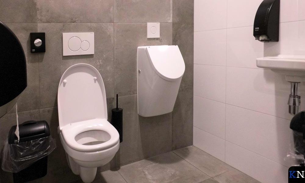De toiletruimte is ingericht met Satino Black.