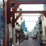 Entree aan Flevoweg (links) en Geerstraat.