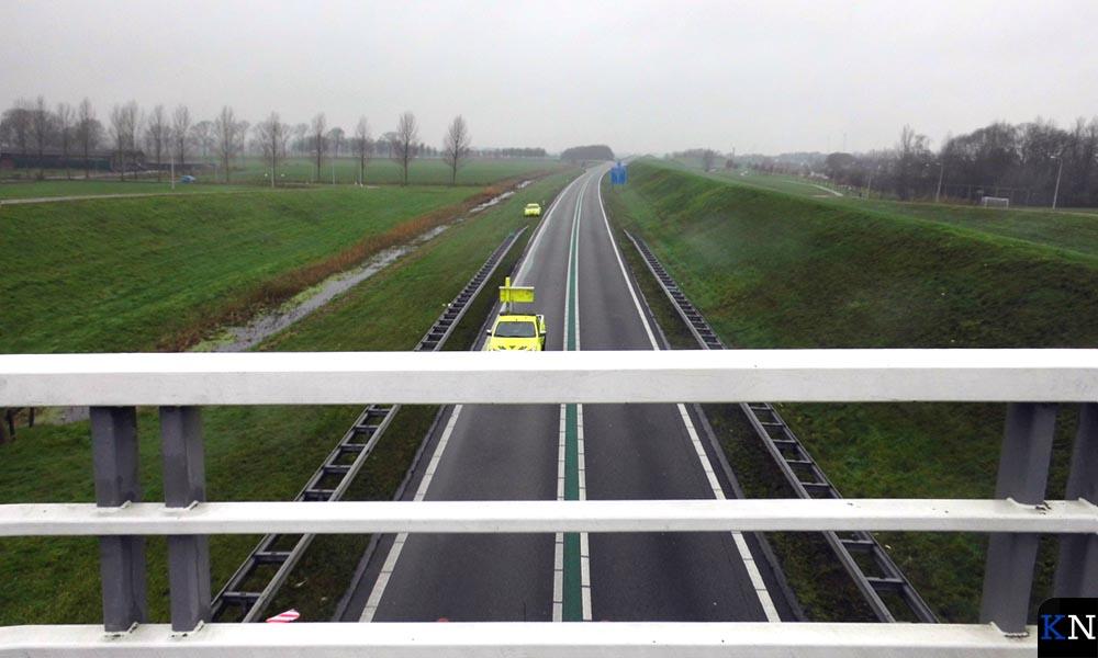 Rijkswaterstaat heeft de N50 ter hoogte van Kampen afgezet wegens een verkeersongeval.