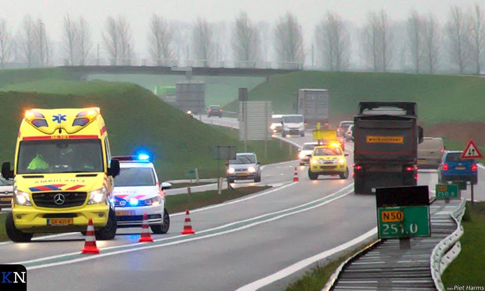 Regelmatig vinden er ongelukken plaats op de N50 ter hoogte van Kampen.