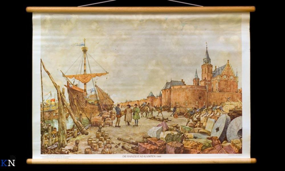 Een schoolplaat van Hanzestad Kampen anno 1441.