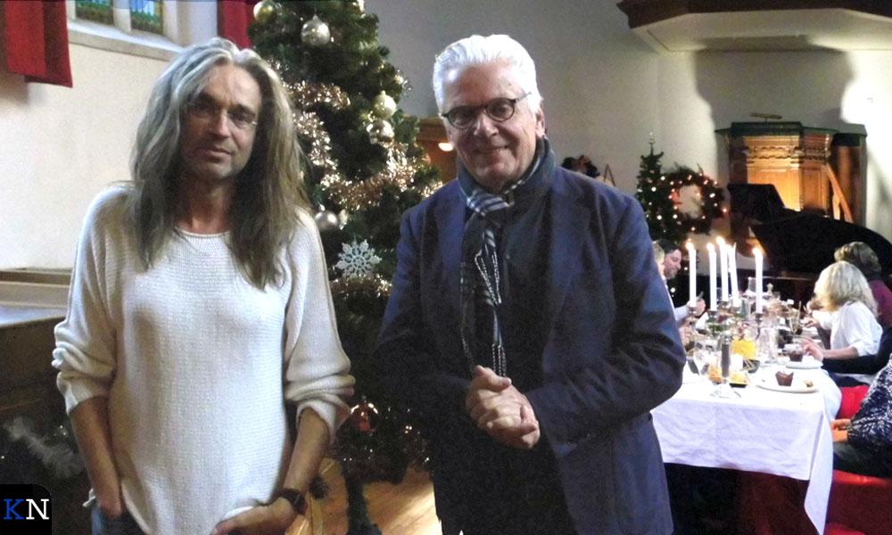 Jan Vayne en Jan Slagter voor 'MAX maakt mogelijk' in de St. Annakapel.