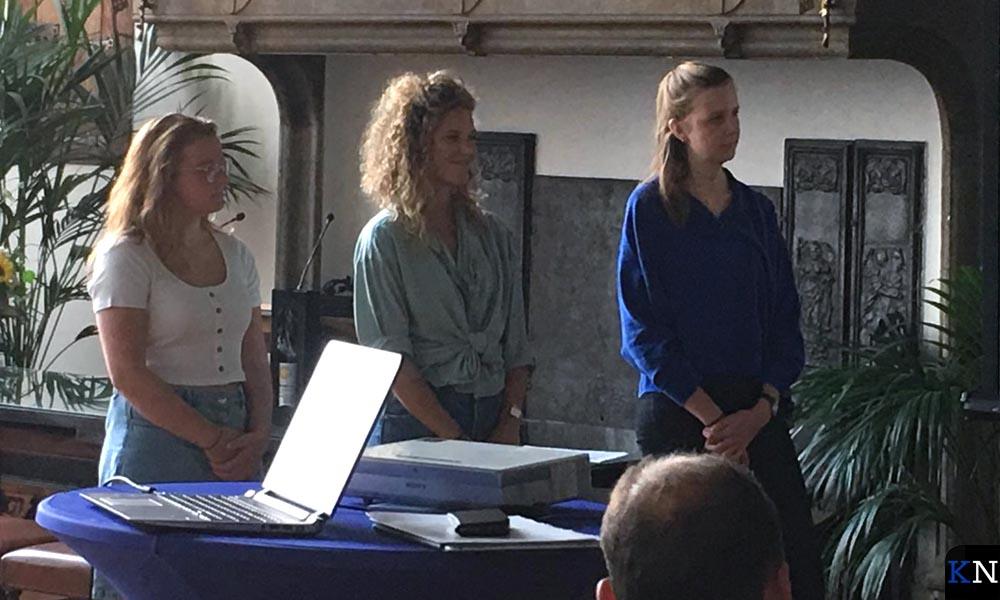 Drie CIBAP-studenten gaven ook acte de presence.