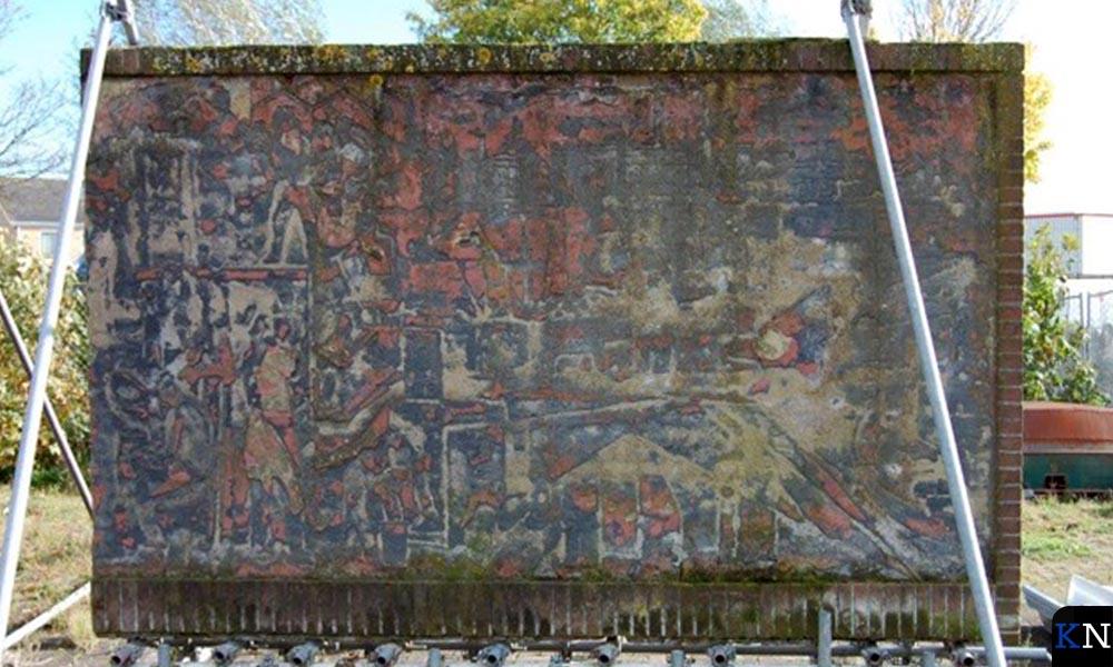 Het Berkmonument werd begin deze eeuw opgeslagen op het terrein van Mateboer.