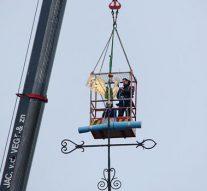 Haan op toren Buitenkerk verwijderd voor onderhoud