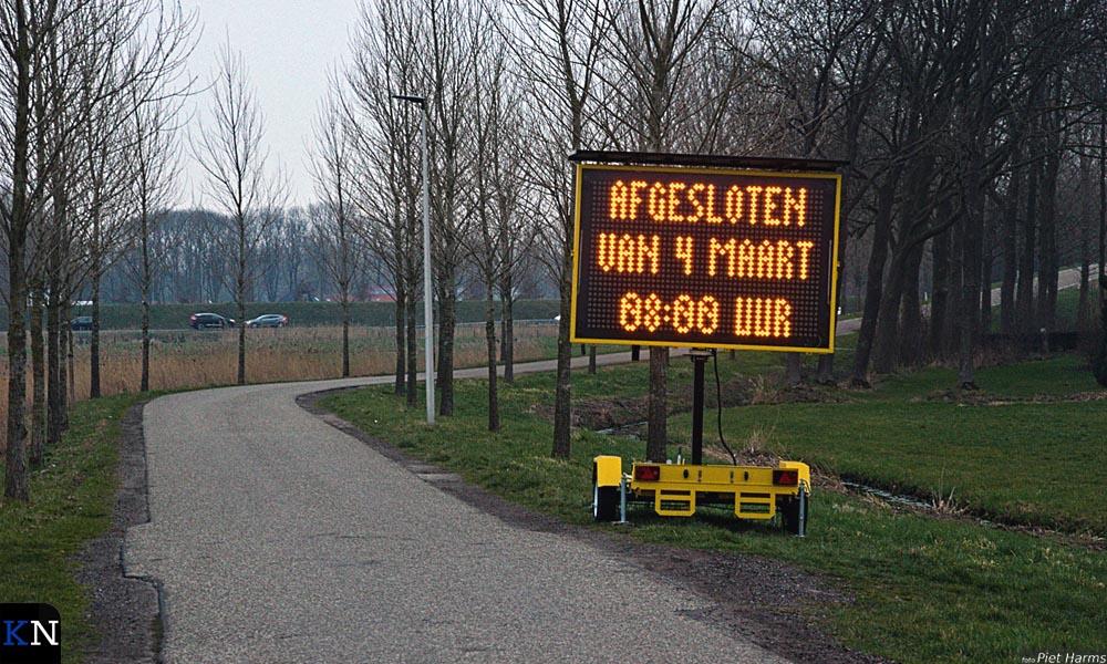 De Cellesbroeksweg is van 4 t/m 8 maart afgesloten.