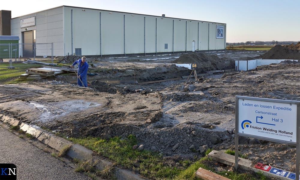 De nieuwbouw voor Friction Welding Holland wordt voorbereid.