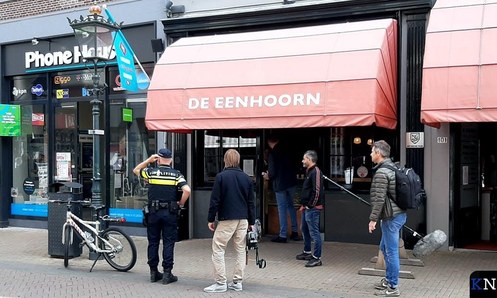 Het camerateam van Danny Ghosen in de Oudestraat.