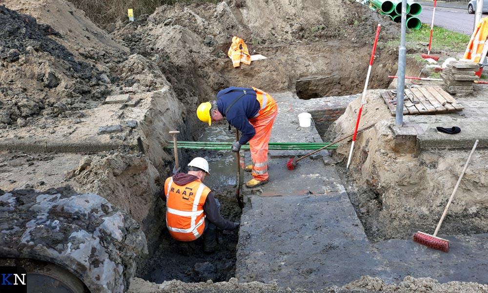 Archeologen zijn druk doende alles in kaart te brengen.