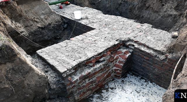 Opnieuw restant stadsmuur gevonden