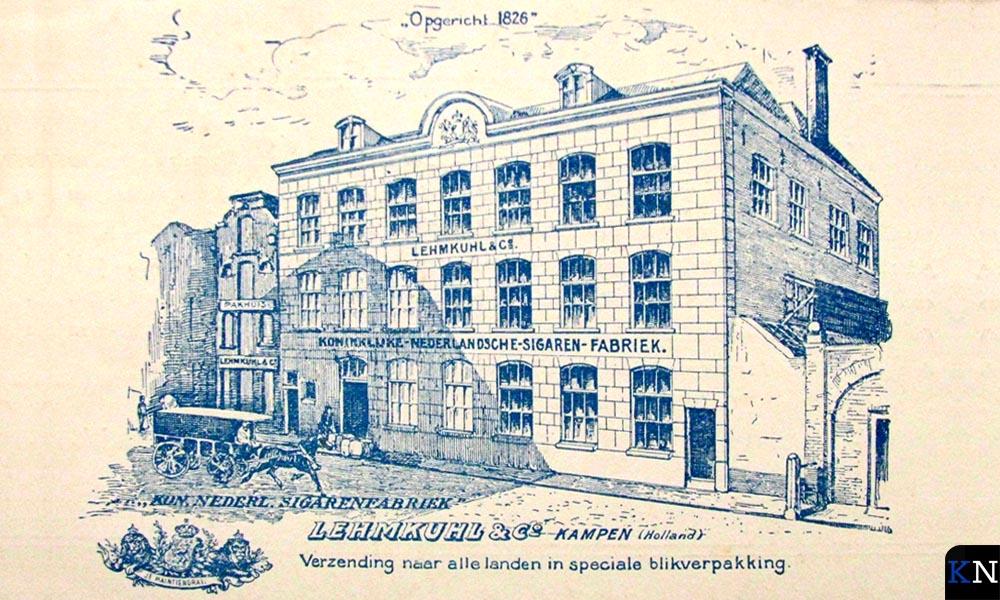 Sigarenfabriek Lehmkuhl & Co, de eerste van Kampen, en waarschijnlijk van Nederland.