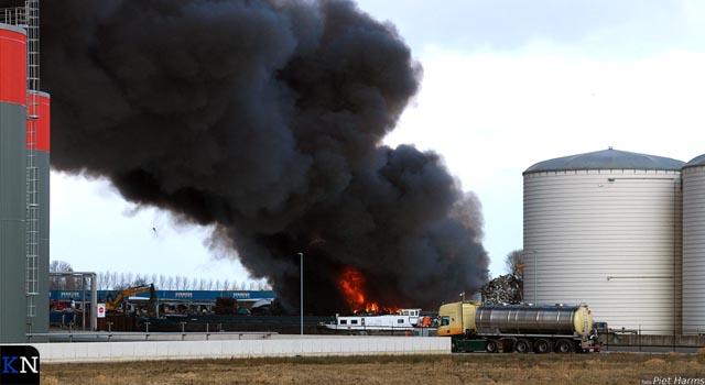 Weer grote schrootbrand op Haatland