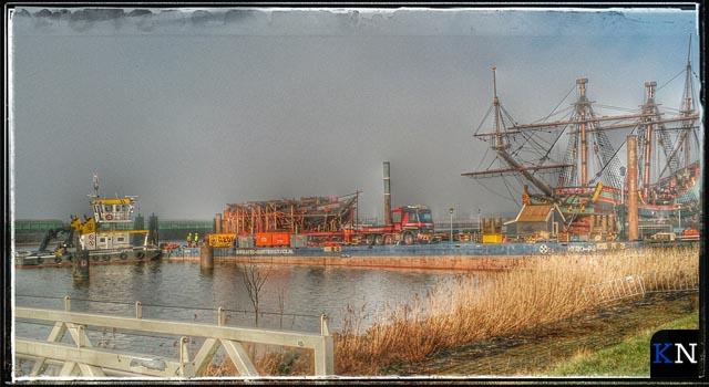 Berging IJsselkogge:<br>Veilig aan wal bij Batavialand