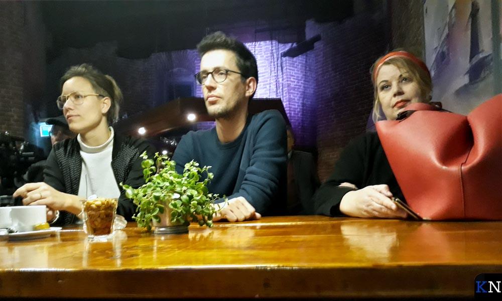 Juryleden Slurink (links) en Sterk