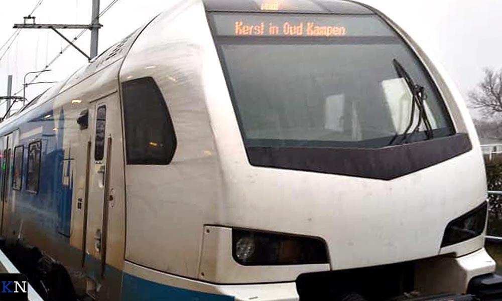 Afgelopen weekeinde kende de trein de toepasselijke bestemming 'Kerst in Oud Kampen'.
