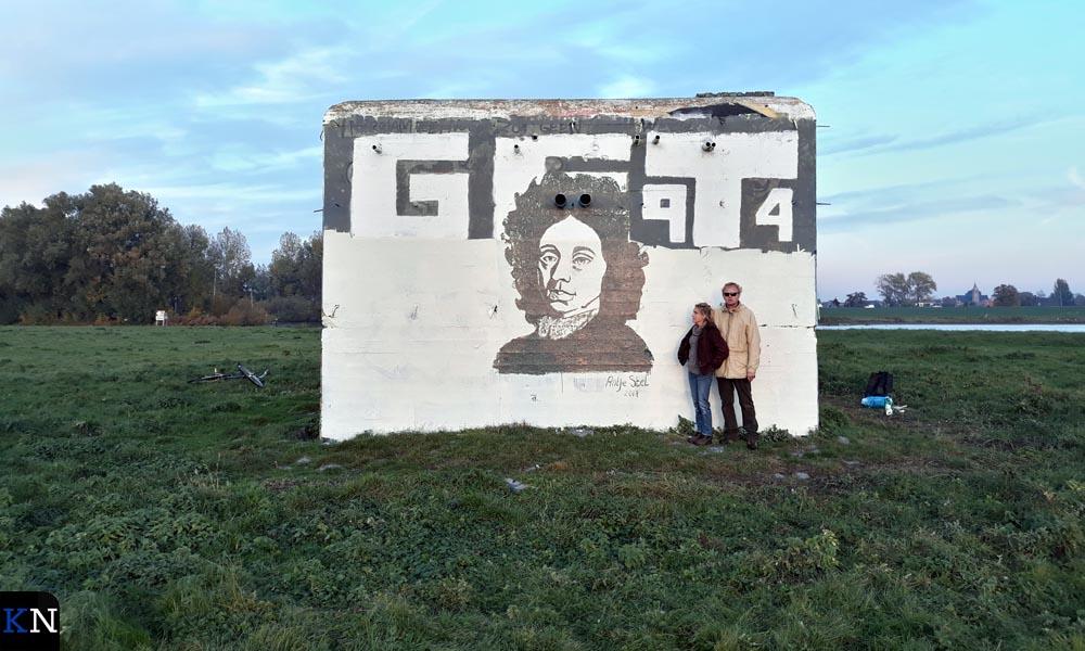 Het geschilderde protest van Stichting Menno van Coehoorn tegen het bekladderen.