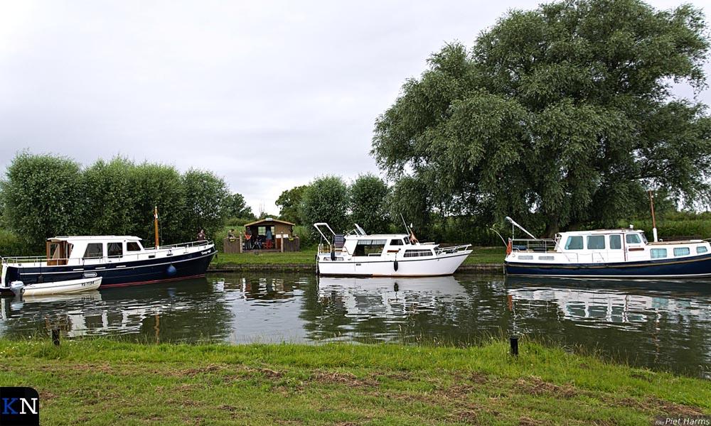 De inham doet dienst als haventje.