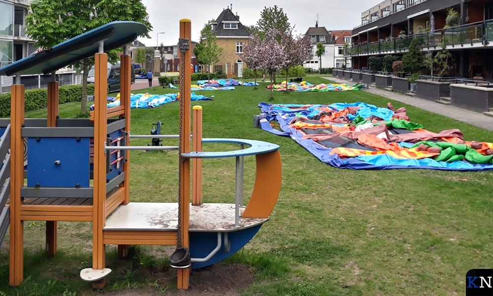 De luchtkussens in Brunnepe zijn weer leeggelopen na de feestmiddag voor jong en oud.