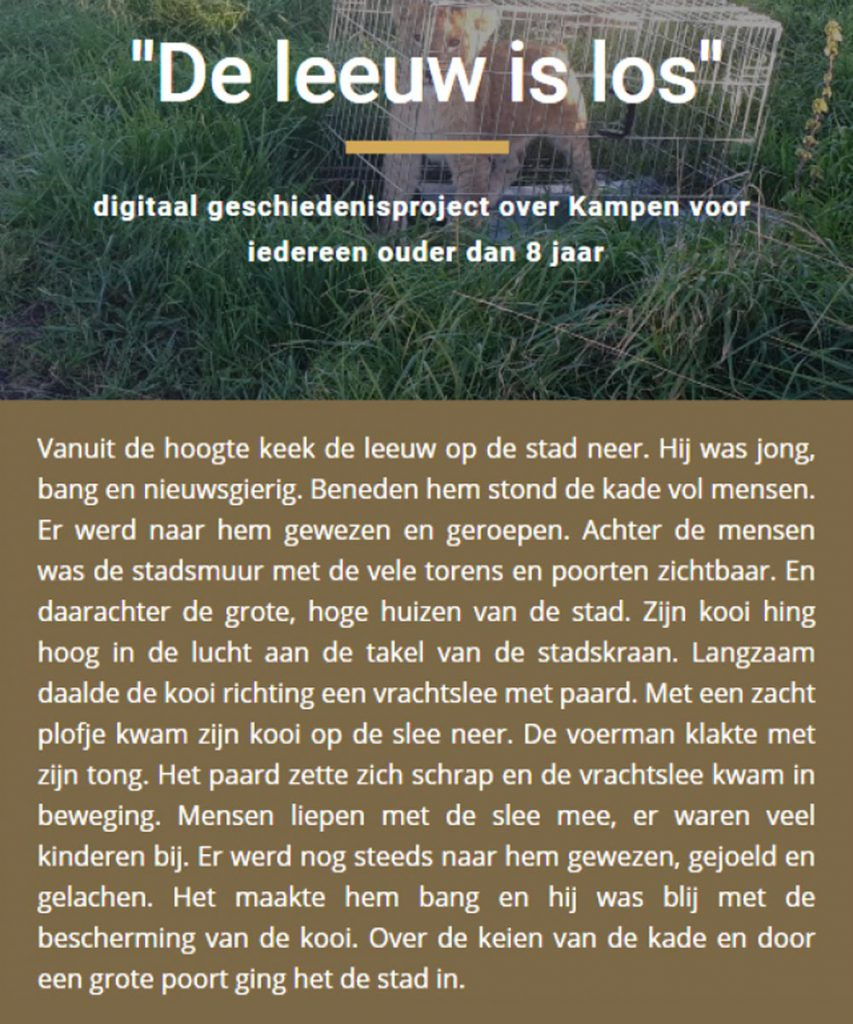 Voorpagina van de website KamperLeeuwen.nl