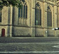 Lijnen en strepen in Kamper binnenstad (persiflage)
