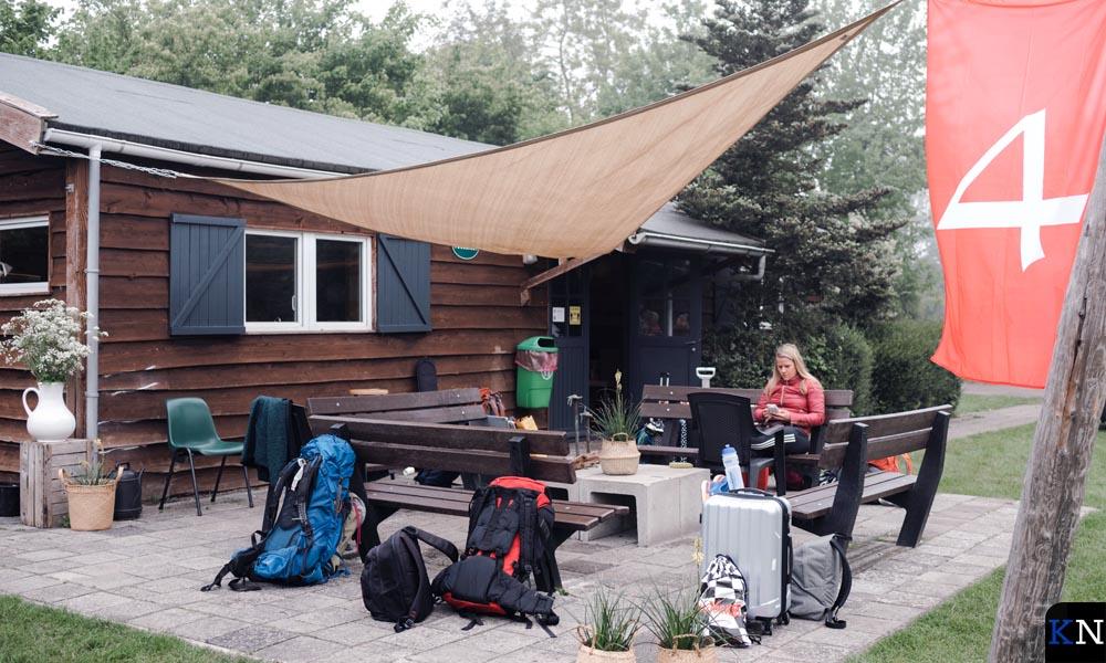 Het kampement van de Kamper deelneemsters aan de Muskathlon.