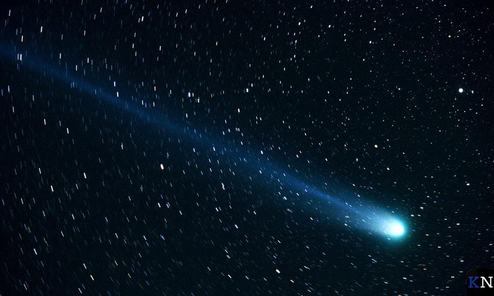 Komeet aan de sterrenhemel.