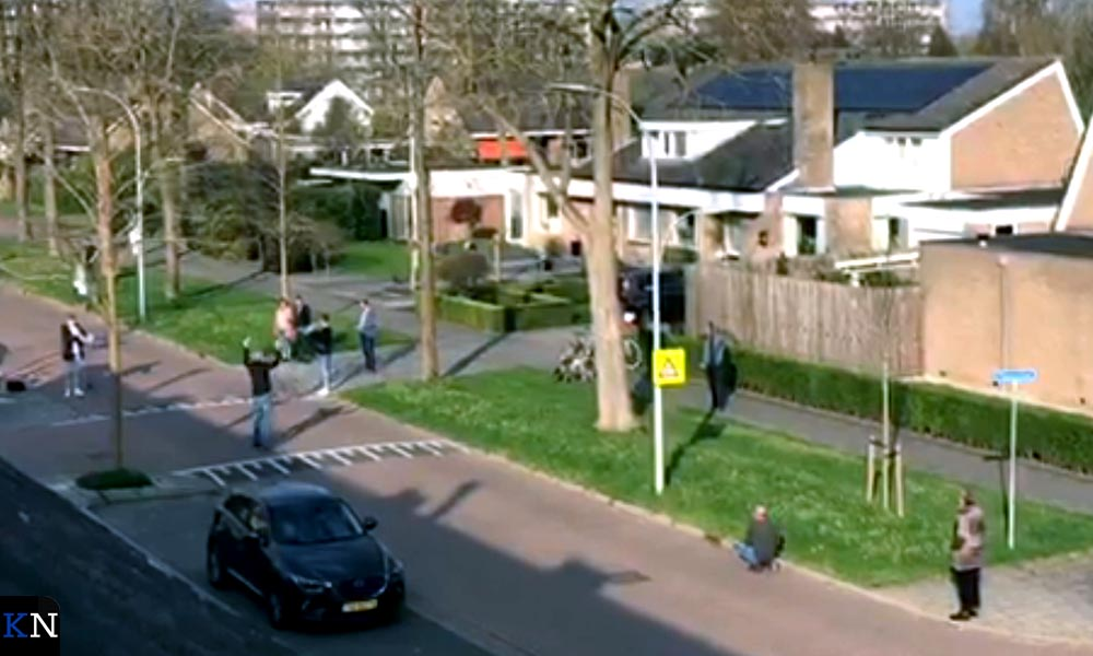 Paaszang in de Acasialaan in Kampen.