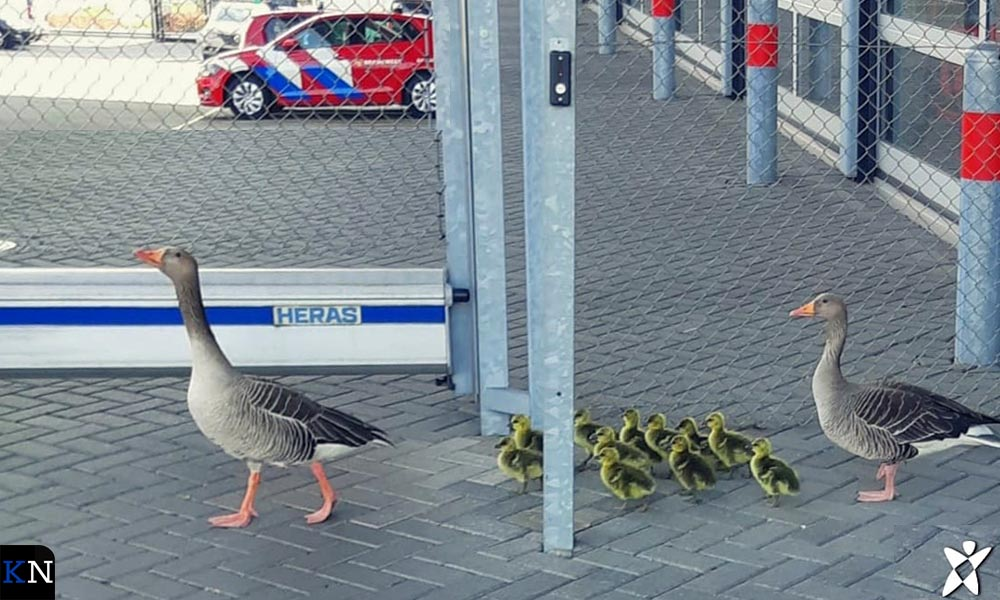 Familiebezoek op het kantoor van de Veiligheidsregio in Zwolle.