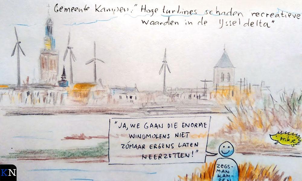 Windmolens in het Kamper stadsfront!