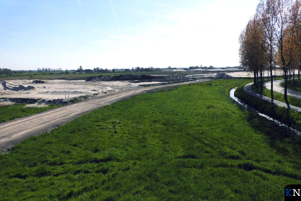 Zicht op het in ontwikkeling zijnde natuurlandschap langs het Reevediep.