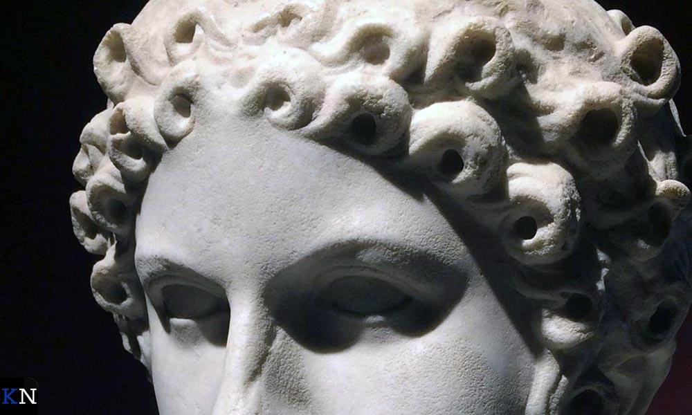 Buste van een Romeinse vrouw.