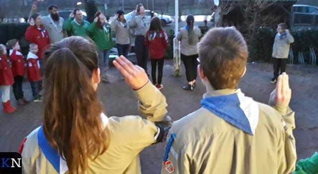Scouting Hanzeluiden hijst de vlag voor Baden Powell