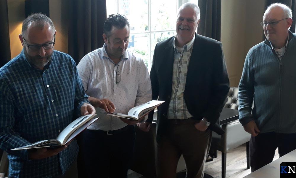 V.l.n.r. Mart en Rob de Waard, Pieter Treep en Joop van Dijk.