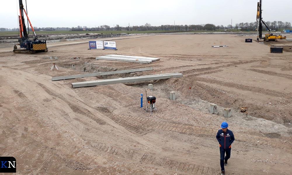 De eerste zeven hectares zijn bouwrijp gemaakt.