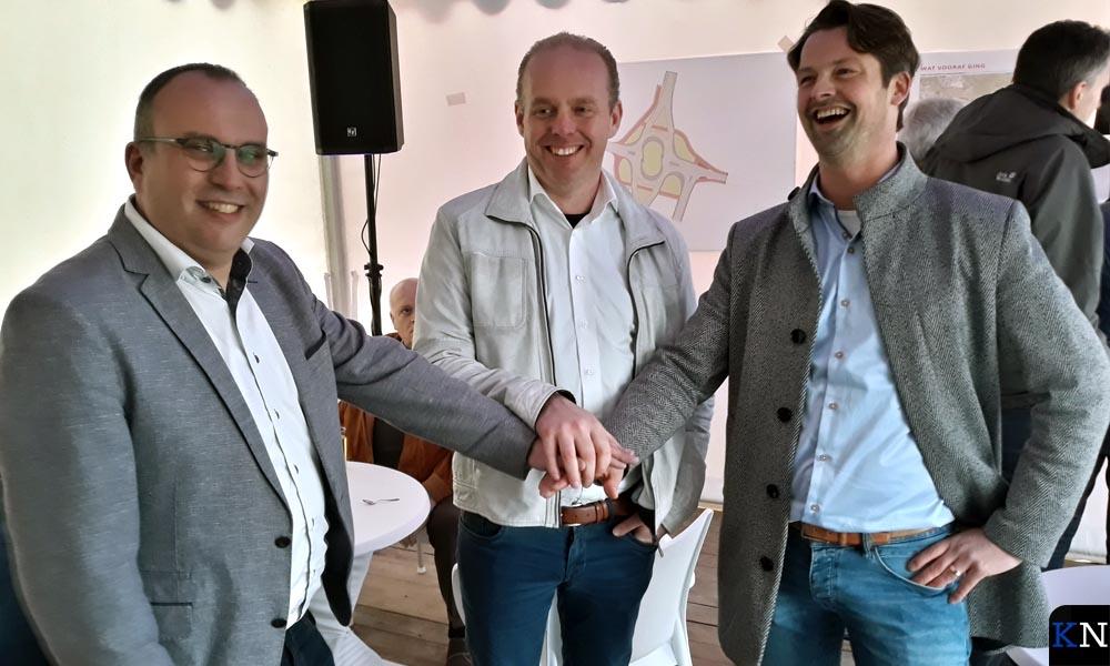 De drie initiërende ondernemers, v.l.n.r. Jan Beens, Erik Postuma en Johan van Marle.