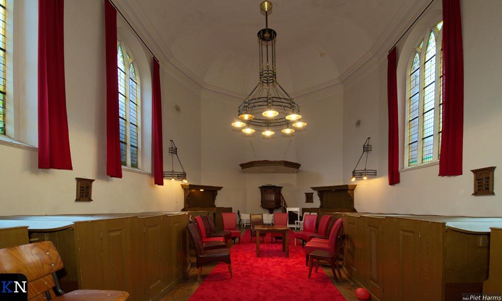 Het interieur van de St. Annakapel aan de Broederweg in Kampen.