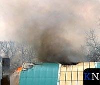 Grote brand uitgebroken in oude zwembad