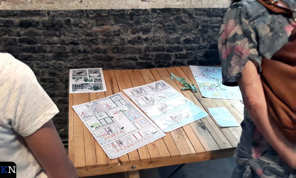 Alle inzendingen voor de tekenwedstrijd van het 20e Kamper Stripspektakel waren te bewonderen in De Sigaar.