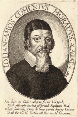 Jan Amos Comenius geëtst door Wenceslas Hollar (1652)