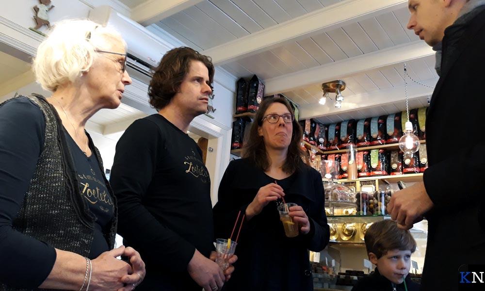 V.l.n.r. Elly van der Poll, Wilfred Sollie, Gerlyne van der Poll en Geert Meijering.