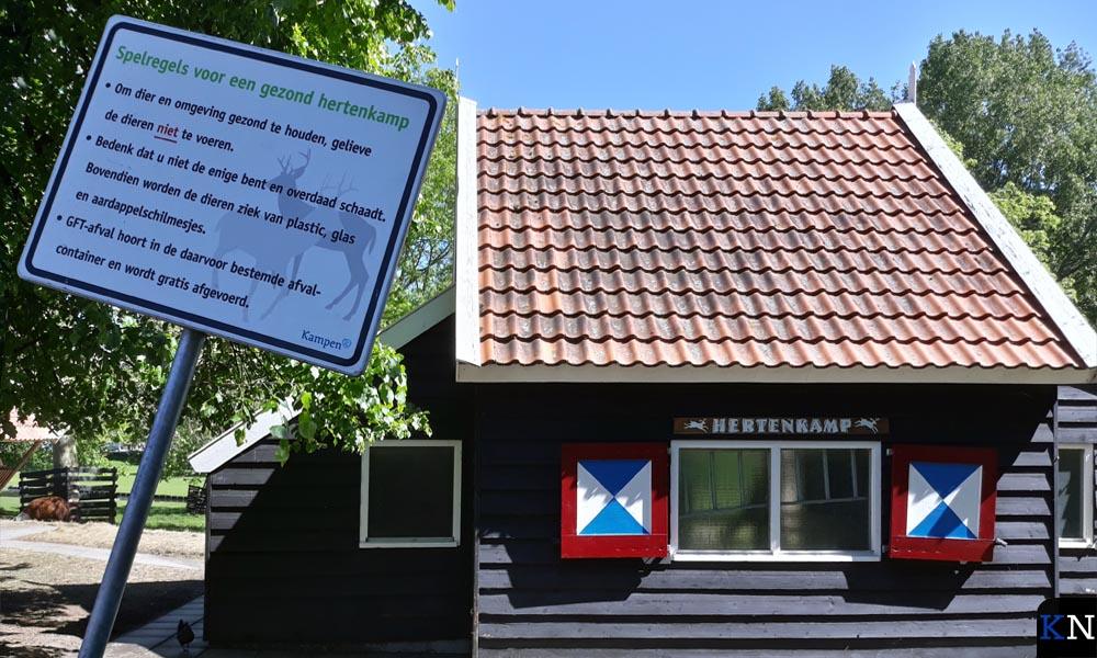 Het hertenkamp langs de Flevoweg in Kampen.